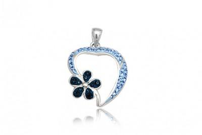 Pandantiv din argint cu cristale albastre