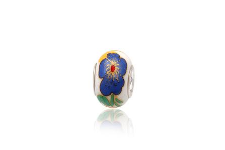 pandantiv bratara ceramica albastra