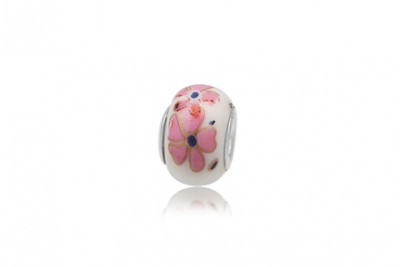 Margea din ceramica cu floricele roz