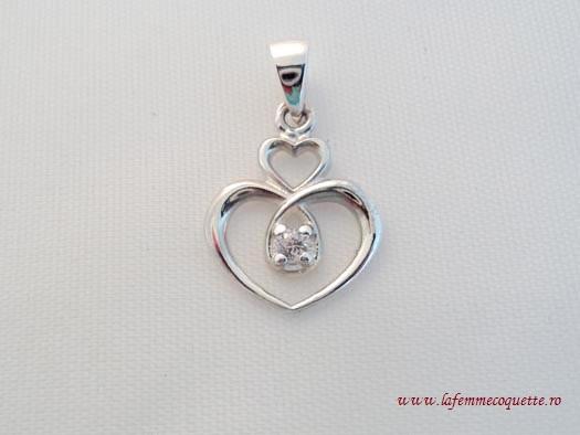 Pandantiv Inimioare Din Argint