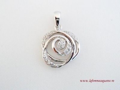 Pandantiv din argint cu model romantic