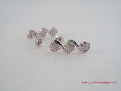 Cercei cu flori din argint