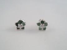 Cercei flori din smarald