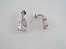 Cercei din argint cu zircon