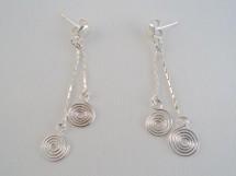 Cercei din argint cu spirale