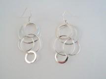 Cercei cu cerculete din argint