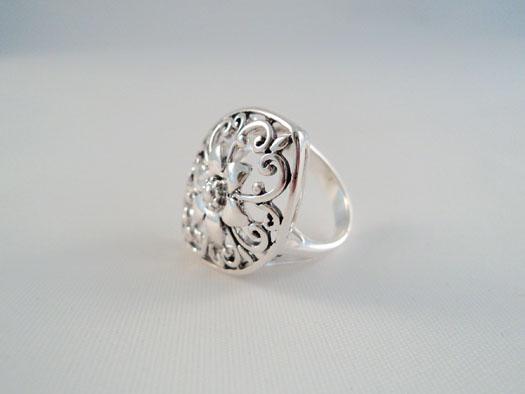 inel din argint simplu