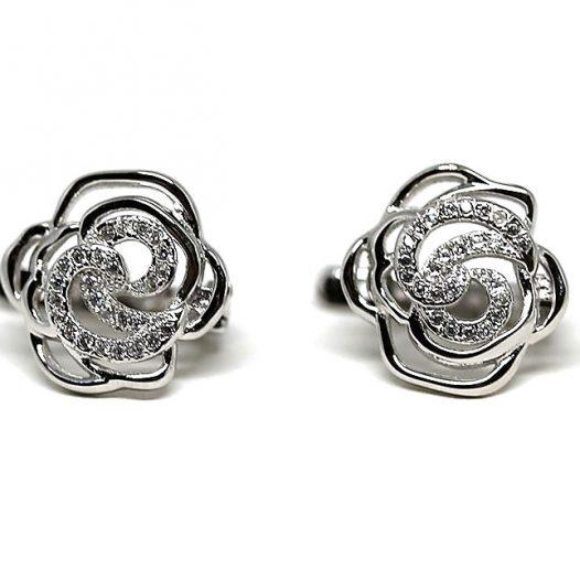 cercei trandafiri argint rodiat