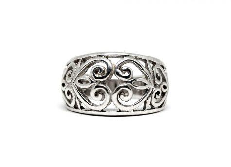 inel din argint design oriental