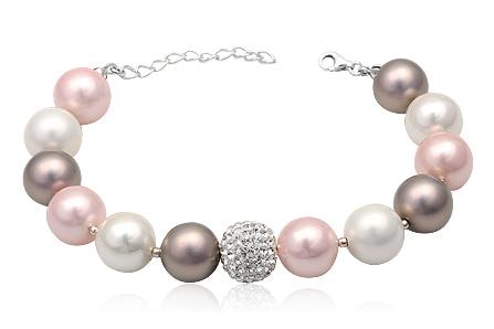Bratara Din Argint Cu Perle Asortate Pastel