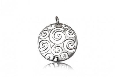 Medalion rotund din argint cu melcisiori