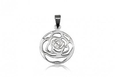 Pandantiv trandafir din argint