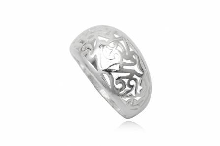 Inel din argint cu model decupat