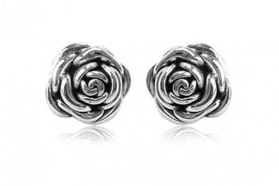 Cercei trandafiri din argint