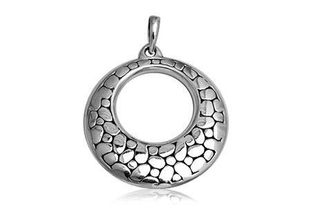 pandantiv rotund din argint