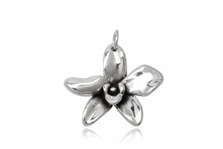 pandantiv din argint orhidee