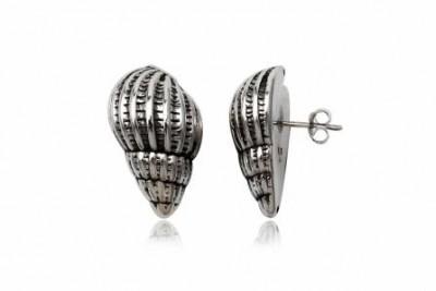Cercei din argint cu model marin