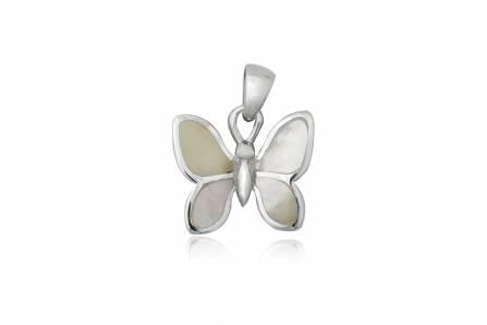 Pandantiv Fluture Din Argint Si Aripi Din Sidef