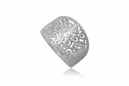 Inel din argint cu model dantelat
