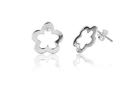 cercei flori delicate argint