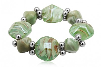 Bratara din sticla de Murano verde