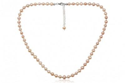 Colier din argint si perle naturale in culori pastel