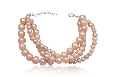 Bratara Din Perle Naturale Pe Fir Din Argint