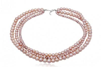 Colier din perle naturale si argint