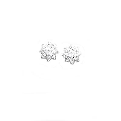 Cercei din argint cu zirconii albe