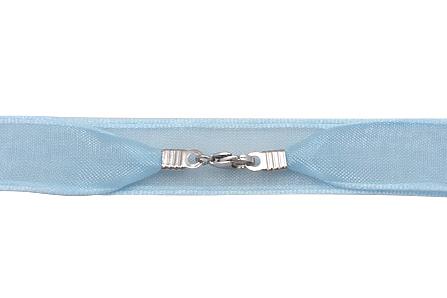 colier organza bleu