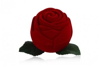 Cutiuta de bijuterii trandafir rosu