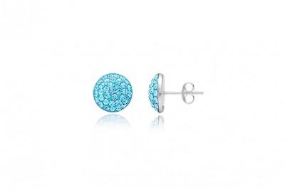 Cercei din argint cu cristale bleu