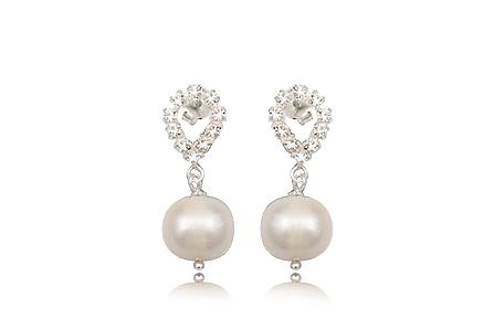 Cercei Din Argint Cu Perle Naturale