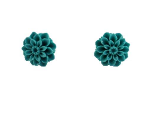 cercei turcoaz crizanteme