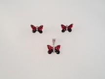 Set fluturasi rosu cu negru