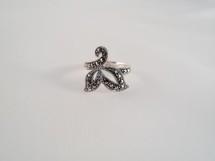 Inel din argint aripi de fluture cu marcasite