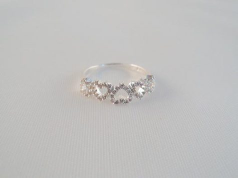inel din argint cu zircon