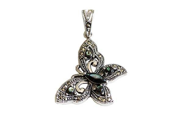 pandantiv fluture cu abalon