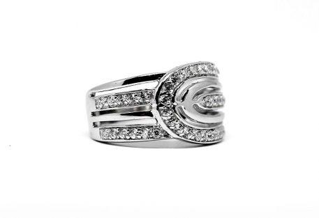 inel cu aspect suprapus argint