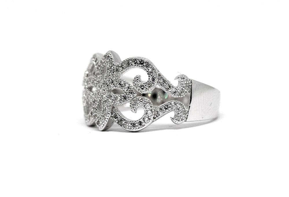 inel deosebit din argint rodiat