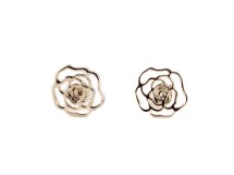Cercei din argint cu trandafiri