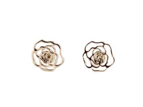 cercei din argint trandafiri