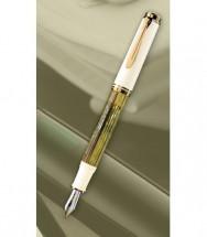Stilou Souveran M400 Pelikan M alb cu verde