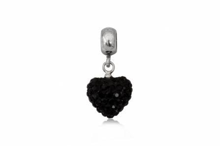pandantiv argint cristale negre