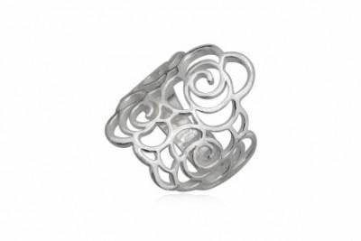 Inel din argint cu trandafiri