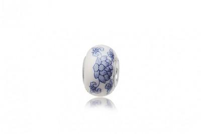 Pandantiv din ceramica si argint cu model delicat
