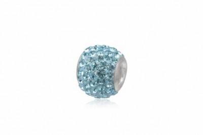 Pandantiv din argint si cristale bleu