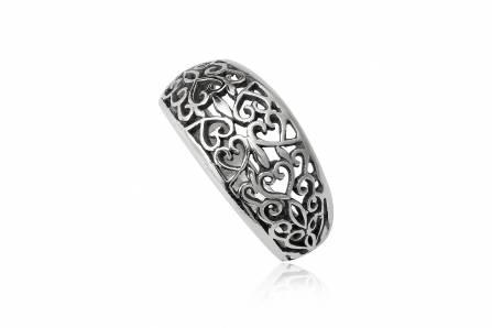 inel din argint cu inimioare
