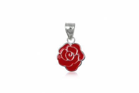 pandantiv trandafir rosu