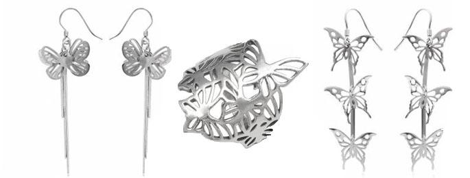 bijuterii cu fluturi